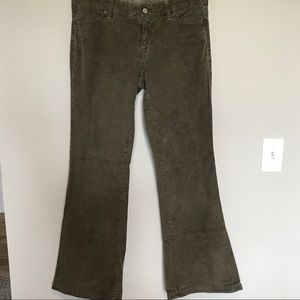 Gap flare bottom corduroy pants